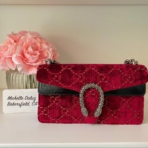 NEW GUCCI VELVET DIONYSUS RED SMALL